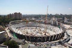 Das Olympiastadion im Bau Lizenzfreie Stockfotos
