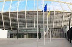 Das Olympiastadion im Bau für den UEFA-EURO 2012 Lizenzfreies Stockfoto