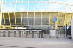 Das Olympiastadion im Bau für den UEFA-EURO 2012 Stockbild