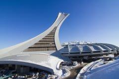 Das Olympiastadion im Winter Stockfotografie
