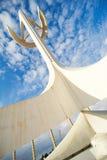 Das Olympiastadion und Dorf in Barcelona während Olympischer Spiele 1992 Lizenzfreie Stockfotografie