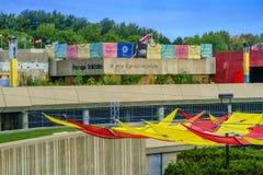 Das Olympiastadions-Esplanade Stockfoto