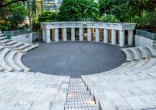 Das olympische Quadrat in Hong Kong Park, Hong Kong, China Lizenzfreie Stockfotos