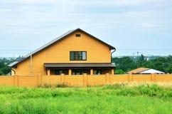 Das orange Haus Stockbilder