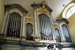 Das Organ in der Kirche von St Mark in Litovel Lizenzfreie Stockbilder
