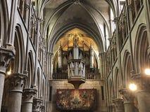 Das Organ in Notre Dame Of Dijon lizenzfreie stockbilder