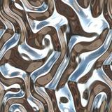 Das organische verworfene Kunst-flüssige Metall strömt Chrom Lizenzfreie Stockfotos
