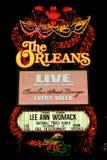Das Orleans-Hotel-und Kasino-Zeichen Stockbild