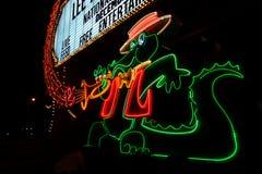Das Orleans-Kasino-Alligatorzeichen Stockfoto