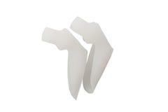 Das orthopädische Hilfsmittel ist für den Abbau des ersten Fingers bestimmt Das Produkt für die Durchführung von Behandlung-und-p Stockbild