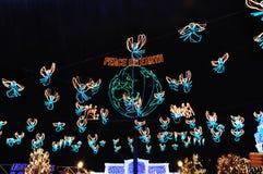 Das Osborne-Familien-Schauspiel von Tanzen-Lichtern bei Disney Hollywo stockbilder