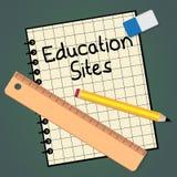 Das pädagogische Standort-Papierdarstellungslernen stationiert 3d Illustrat Lizenzfreie Stockfotos