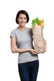Das Paket voll halten von den gesunden Produkten Lizenzfreie Stockfotografie