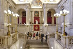 Das Palacio wirkliche De Madrid (Royal Palace) Lizenzfreie Stockbilder