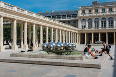 Das Palais Royal in Paris Stockfotografie