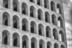 Das Palazzo-della CiviltàItaliana, alias quadratisches Colosseum, Rom, Stockfotografie