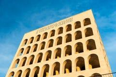 Das Palazzo-della CiviltàItaliana, alias quadratisches Colosseum, Rom, Stockfotos