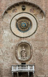 Das Palazzo-della Ragione mit dem Orologio-` Glockenturm ` ` Torre-engen Tals Mantua Lizenzfreies Stockfoto