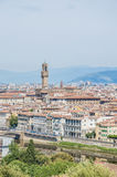 Das Palazzo Vecchio, das Rathaus von Florenz, Italien Lizenzfreies Stockfoto