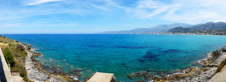 Das Panorama des Strandes Stockfotografie