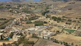Das Panorama Gozo-Insel, Malta Landschafts, dasvon der Zitadelle gesehen wurde, verstärkte Stadtakropolis stock footage
