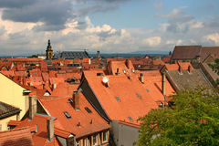Das Panorama von Bamberg. Stockfoto