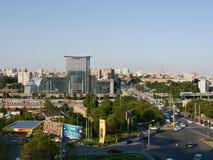 Das Panorama von der Höhe zu Rostov- On Donstadt Lizenzfreie Stockfotografie