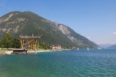 Das panoramische Betrachtungsplattform ⠁â â Aussichtsturm in Österreich Stockbild