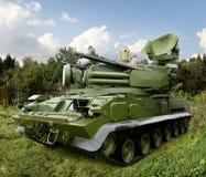 Das Pantsir-S1 Windhund SA-22, ein kombiniertes Waffensystem der Boden-Luft-Raketen- und Flugabwehrartillerie Stockfotografie