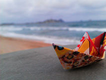Das Papierboot Stockfoto