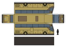 Das Papiermodell eines beige Busses lizenzfreie abbildung
