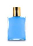Das Parfüm der Männer in der schönen Flasche lizenzfreie stockbilder