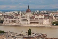 Das Parlament bringen, Budapest unter Lizenzfreies Stockbild