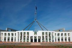 Das Parlament bringen Canberra unter Lizenzfreie Stockbilder