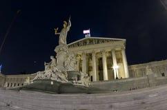 Das Parlament bringen, Wien, Österreich unter Stockfoto