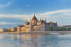 Das Parlament in Budapest stockfoto
