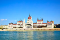 Das Parlament in Budapest Stockfotos