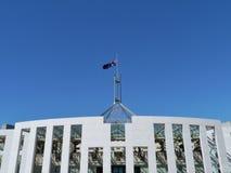 Das Parlamentsgebäude in Canberra Stockbild