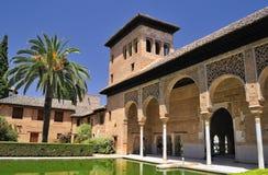 Das Partal, der Alhambra, Granada. Lizenzfreies Stockfoto