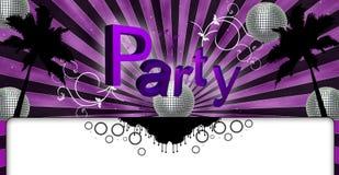 Das Party-Flugblatt-Rosa Lizenzfreie Stockbilder
