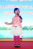 Das Peking-Opernleistung der Kinder auf dem Stadium Lizenzfreie Stockbilder