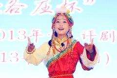 Das Peking-Opernleistung der Kinder auf dem Stadium Lizenzfreie Stockfotografie