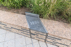 Das Pentagon-Denkmal im Washington DC - keine Namen auf Anzeige Stockfoto