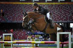 Das Pferden-Springen Lizenzfreie Stockbilder