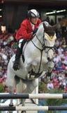 Das Pferden-Springen Lizenzfreie Stockfotografie