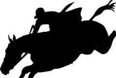 Das Pferdenspringen Lizenzfreies Stockfoto