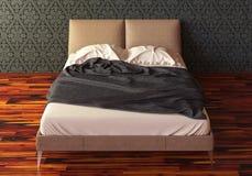 Das Photorealistic Bett übertragen Lizenzfreies Stockbild