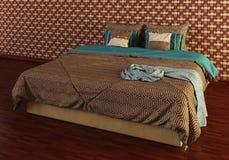 Das Photorealistic Bett übertragen Lizenzfreie Stockfotos