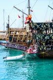 Das Piratenschiff am Strand von Kleopatra Lizenzfreies Stockbild