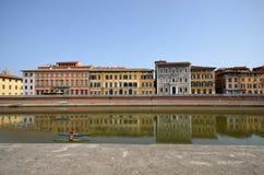 Das Pisa-Stadtbild stockbild